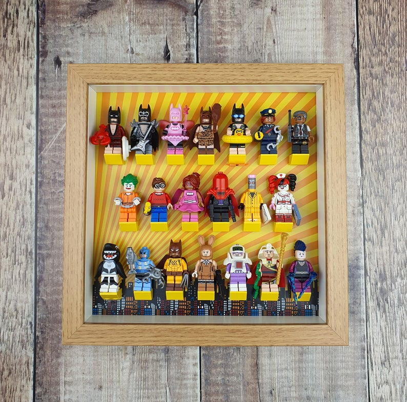 Display Case for Super Hero Minifigures | Suitable for LEGO Batman Series 1 Minifigures
