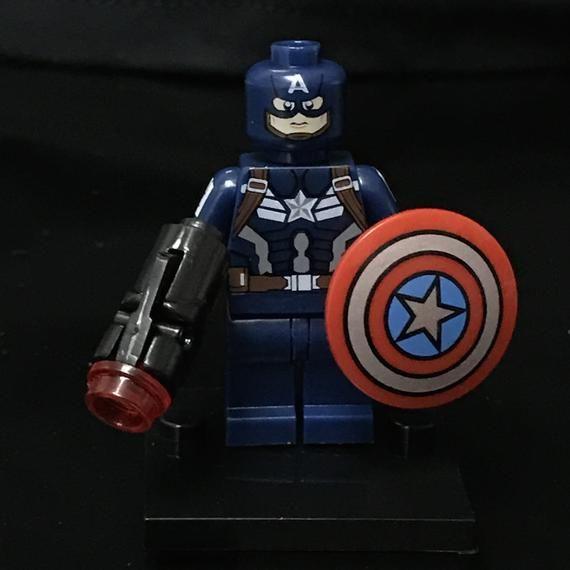 Captain America Minifigure Marvel Superheroes Custom Minifigures Avengers