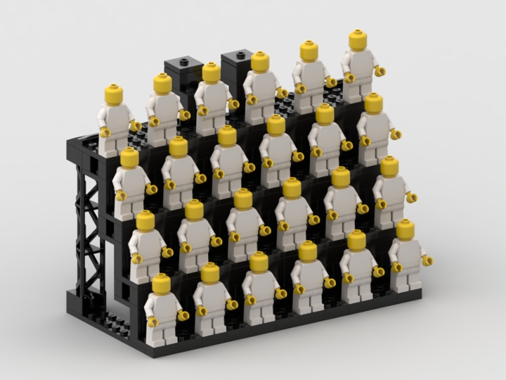 Minifigure Display Stand (with instructions) from BrickLink Studio