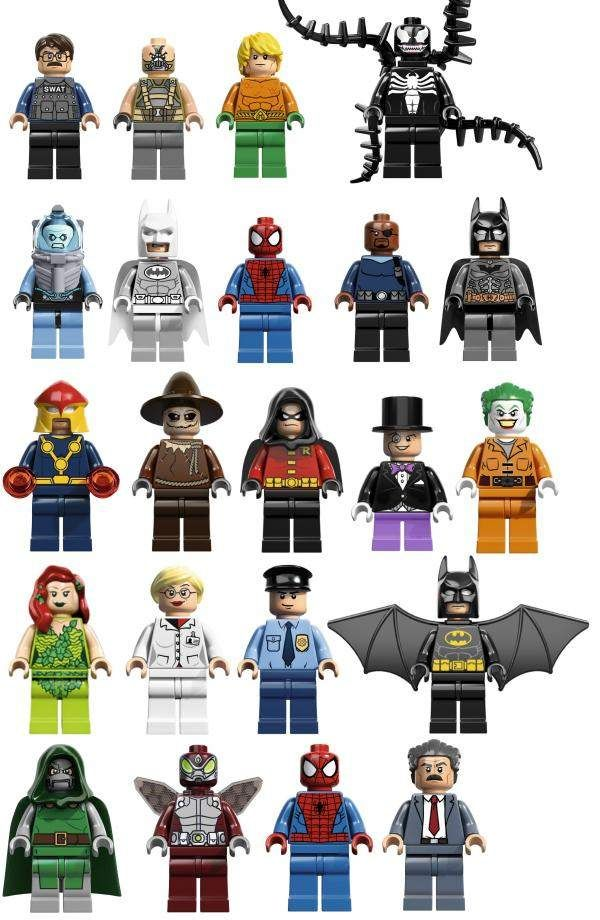 LEGO reveals next year's super hero minifigs