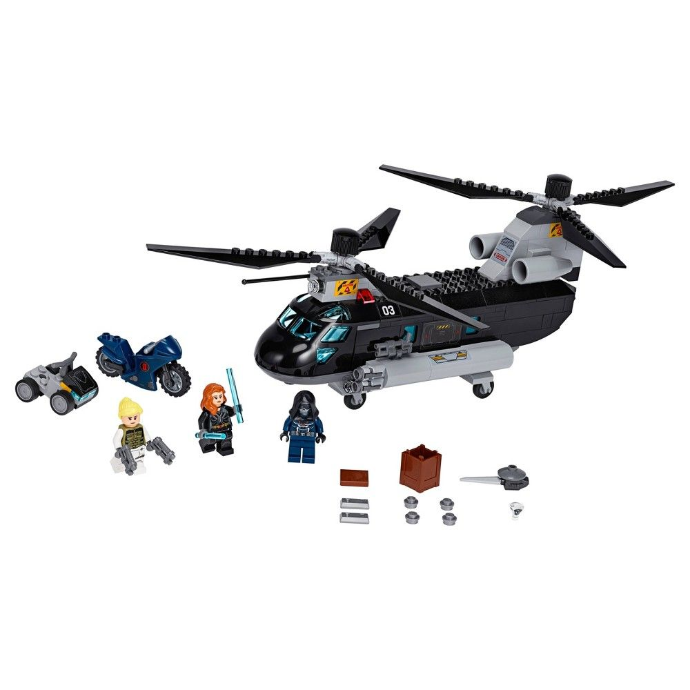 LEGO Marvel Avengers Black Widow's Helicopter Chase 76162 Playset with 3 Minif…