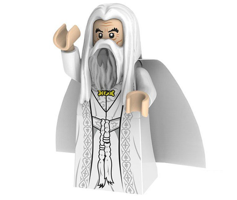 Lord of the Rings Saruman minifigures Compatible Lego minifigures