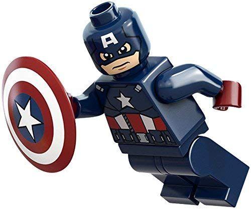LEGO Marvel Super Heroes Minifigure – Captain America Dark Blue with Shield (6865)