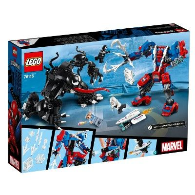 LEGO Marvel Spider Mech Vs. Venom Ghost Spider Superhero Playset with Web Shoote…