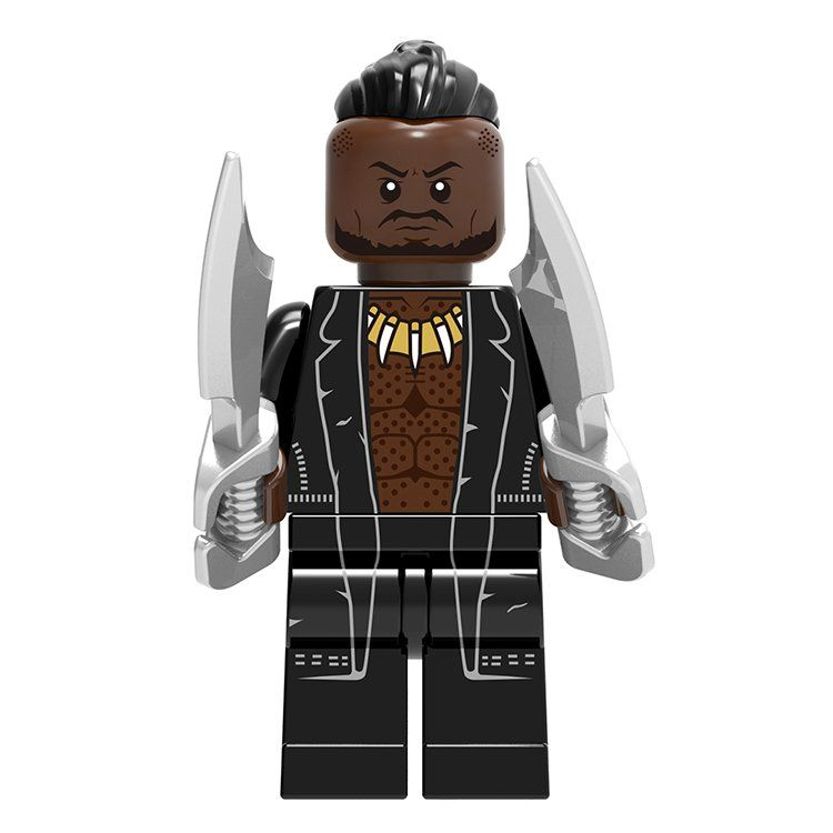 Erik Killmonger Minifigures Marvel Super Heroes Lego Minifigures Compatible Toy
