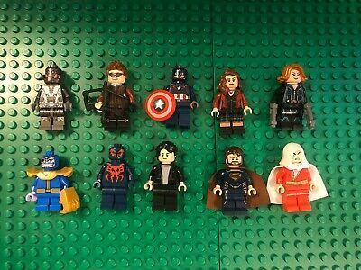 Ad – Lego Lot 10 Super Heroes Minifigure – Shazam Thanos Ultron & Spider-Man 209…