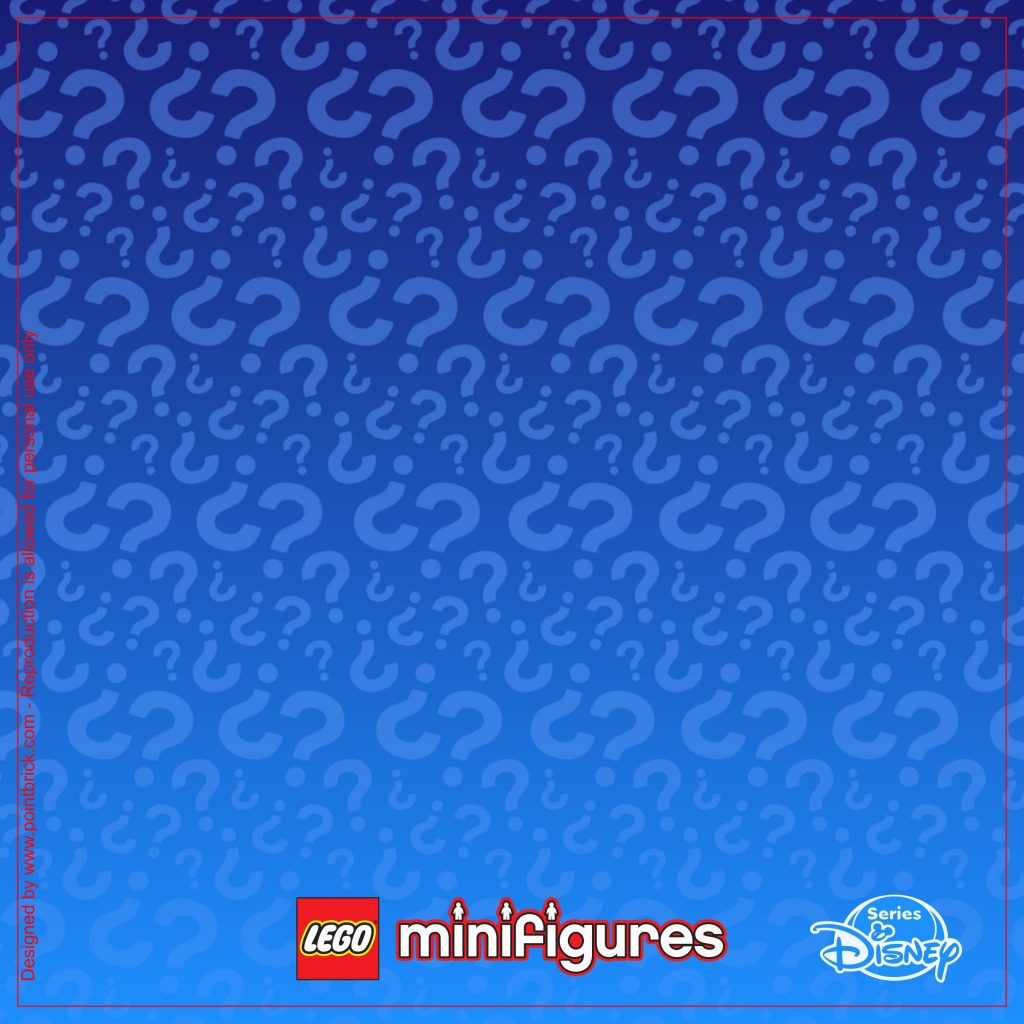 LEGO Minifigures Display Frame Sfondi Serie Disney