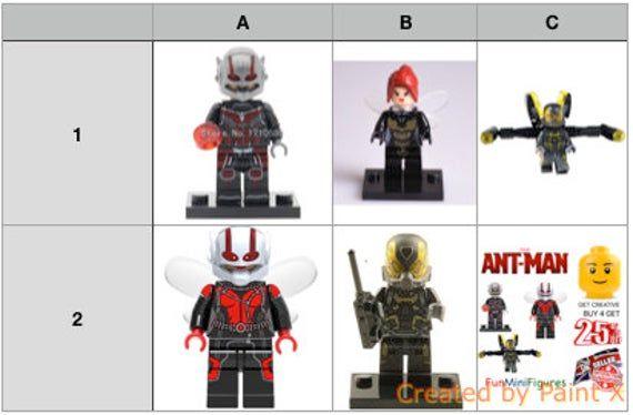 Ant-man minifigures Ant Man Minifigure Yellow Jacket Wasp Custom Minifigures Lego Compatible Mini Figures
