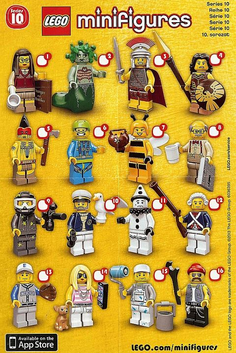 Guide to feeling for LEGO Minifigs Series 10