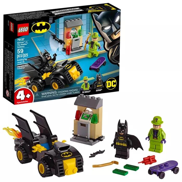 LEGO DC Comics Super Heroes Batman Vs. The Riddler Robbery 76137 Toy Car Buildin…