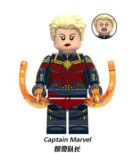 Captain Marvel Endgame Avengers Custom Marvel Super Heroes Minifigs Minifigures Fit Lego X1288