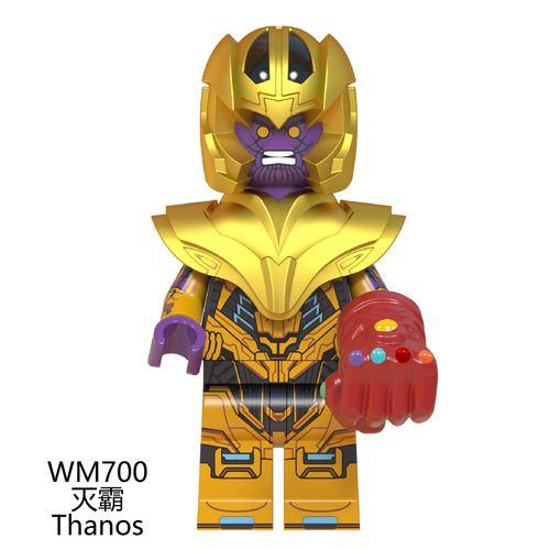Thanos Avengers Endgame Custom Mavrel DC Super Heroes Minifigs Minifigures Fit Lego W700