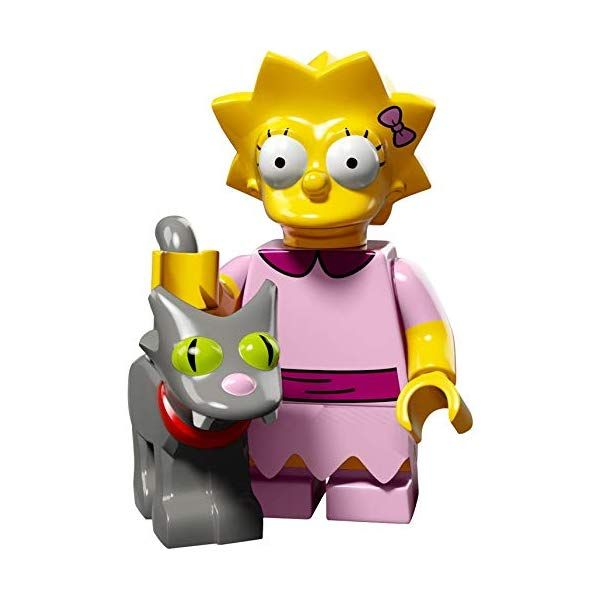 LEGO The Simpsons Series 2 Collectible Minifigure 71009 – Lisa Simpson (Snowball II Cat)