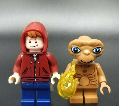2PCS Elliott Boy & ET Custom Marvel DC Super Heroes Minifigs Minifigures Fit Lego WM819-820