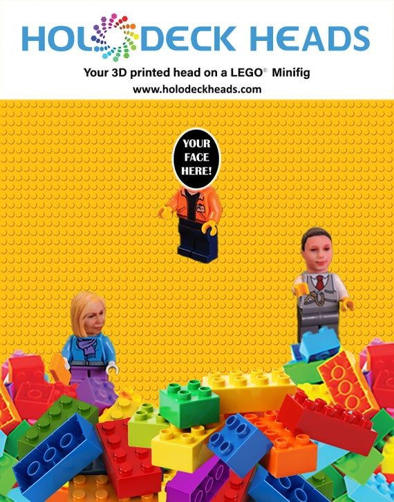 As seen on the Today Show . . . Your head on your favorite super hero LEGO Minif…