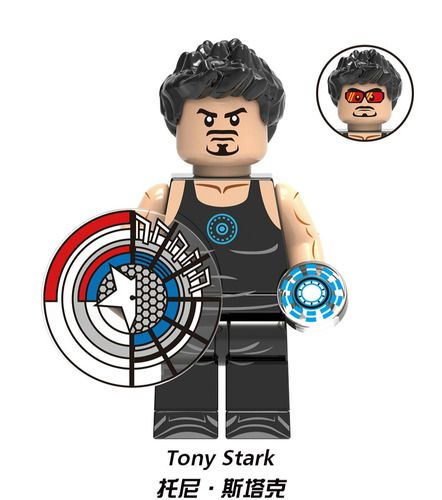 Tony Stark (Iron Man 2) Avengers Marvel SuperHeroes Minifigures Minifigs Fit Lego X1366