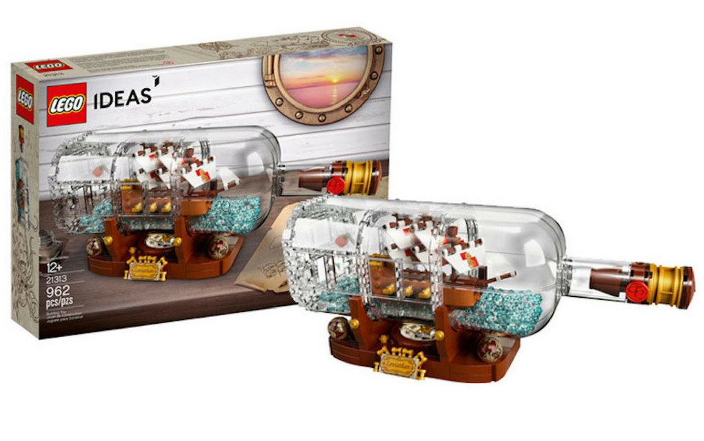 LEGO Ideas Ship in a Bottle 21313 Toy for Adults (962 Pieces)