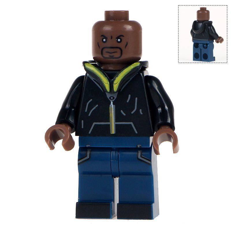 Minifigure Luke Cage Marvel Super Heroes Compatible Lego Building Block Toys