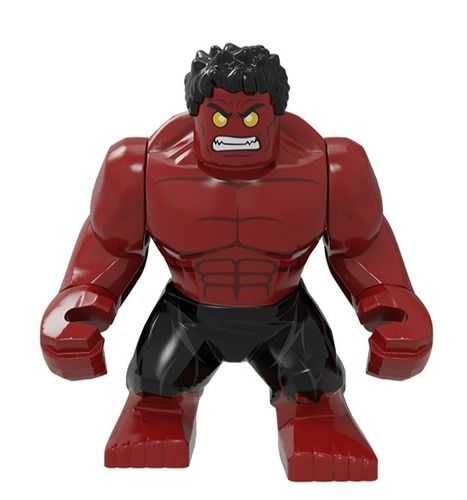 Red Hulk Custom Bigfigs Minifigures Fit Lego