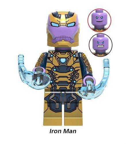 Iron Man x Thanos Custom Mavrel DC Super Heroes Minifigs Minifigures Fit Lego X1214
