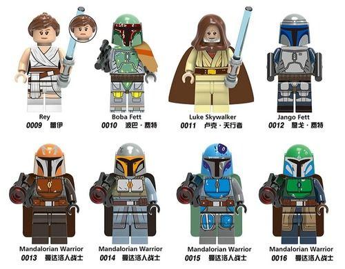8PCS  Star Wars Minifigures with Mandalorian Warriors