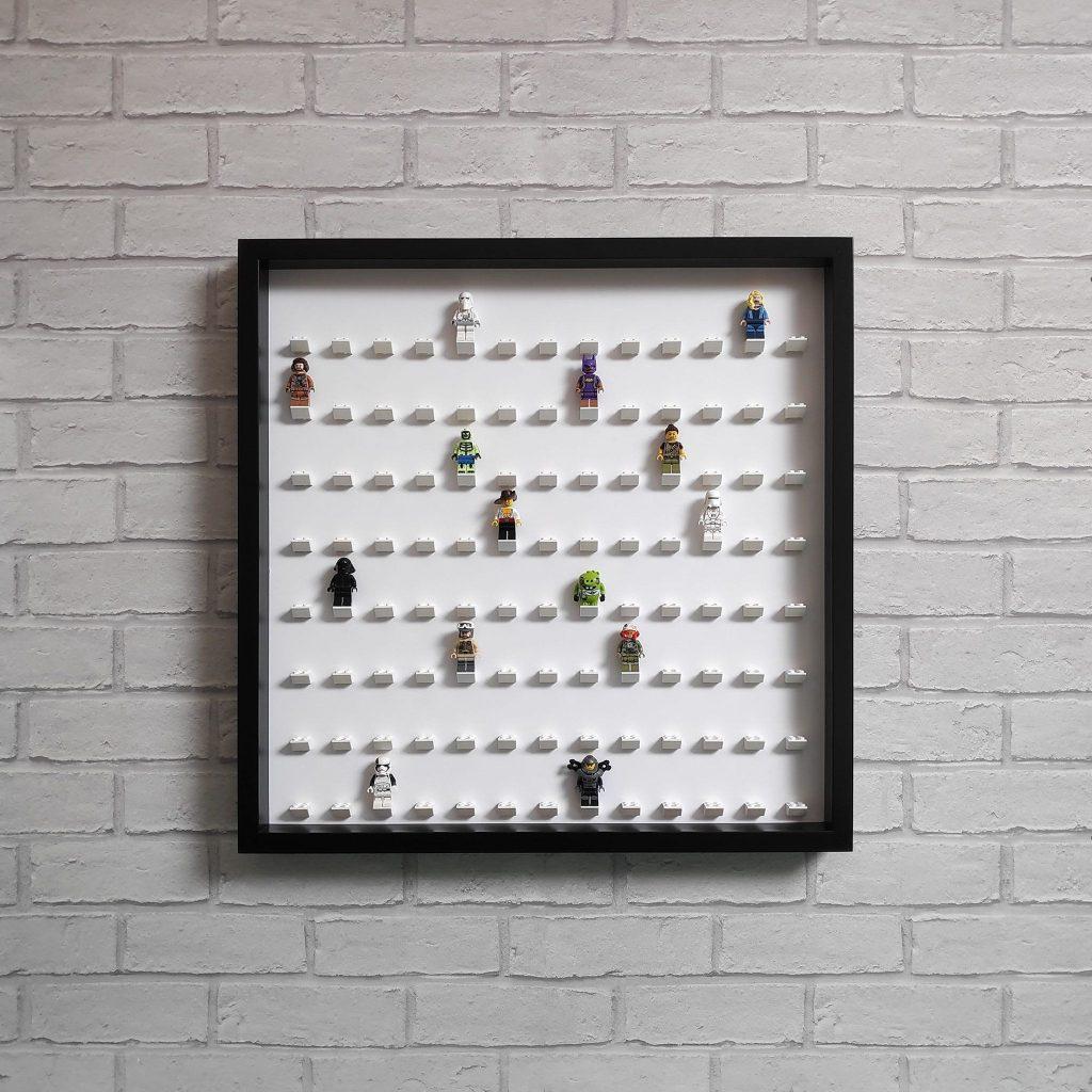 Lego Minifigure Display Frame Large Storage Case – Fits 104 Figures – Black, White