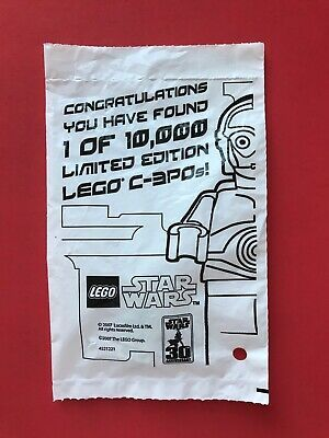 Ad – LEGO STAR WARS CHROME GOLD C-3PO 1 OF 10,000 LIMITED EDITION 4521221 NEW-SE…