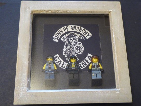 Sons Of Anarchy Lego Minifigure Frame