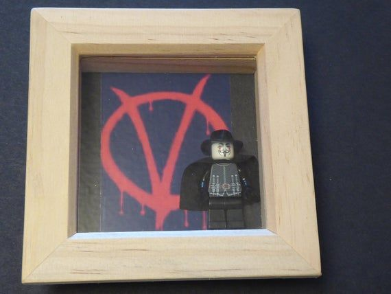 V For Vendetta Lego Minifigure Frame