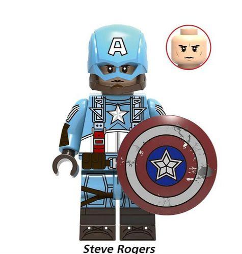 Captain America Custom Minifigs Fit Lego