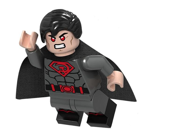 Red Son Superman Lego Minifigures Compatible Super Heroes Toy