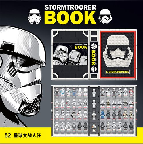 Storm Troopers Book W/ 52 Ironman Minifigs Building Set
