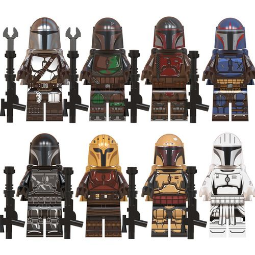 8PCS/Lot Mandaloria Star Wars  Minifigs Minifigures