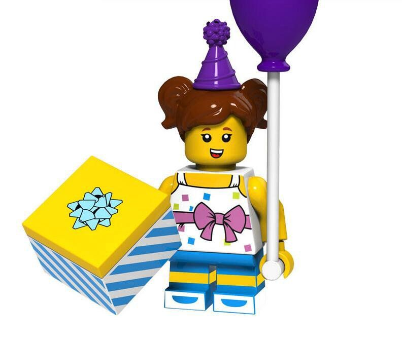 Birthday Party Girl Minifigures Party building block Toy Compatible Lego Minifigures 18