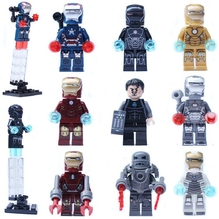 Super Hero Iron Man Avenger DC Tony Stark Minifigure Compatible Lego Toy