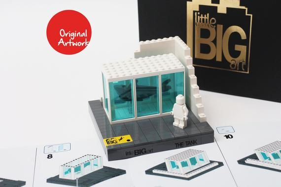 Build-Your-Own Art: LEGO Tank Model (Damien Hirst – Shark Tank), by Little Big A…