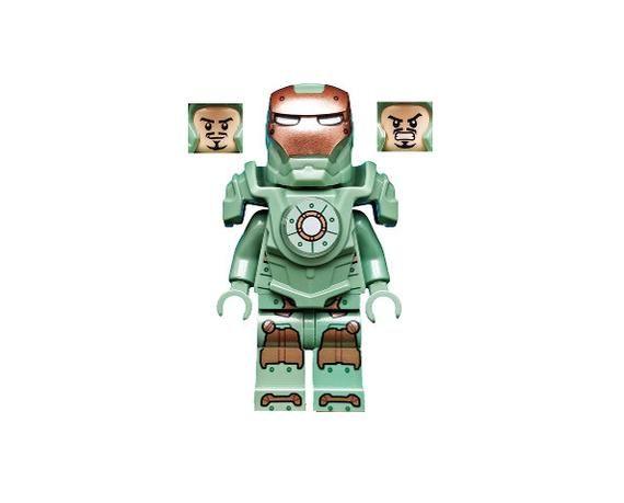 Lego MINIFIGURE Scuba Iron Man Sand Green Marvel Super Heroes