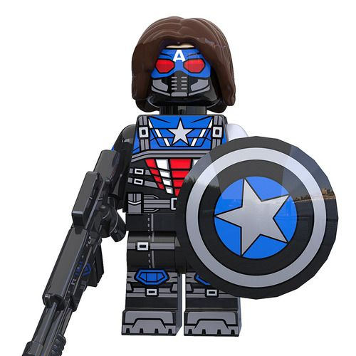 Winter Soldier x Captain America Avengers Marvel DC Super Heroes Custom Minifigures Minifigs Fit Lego XP299