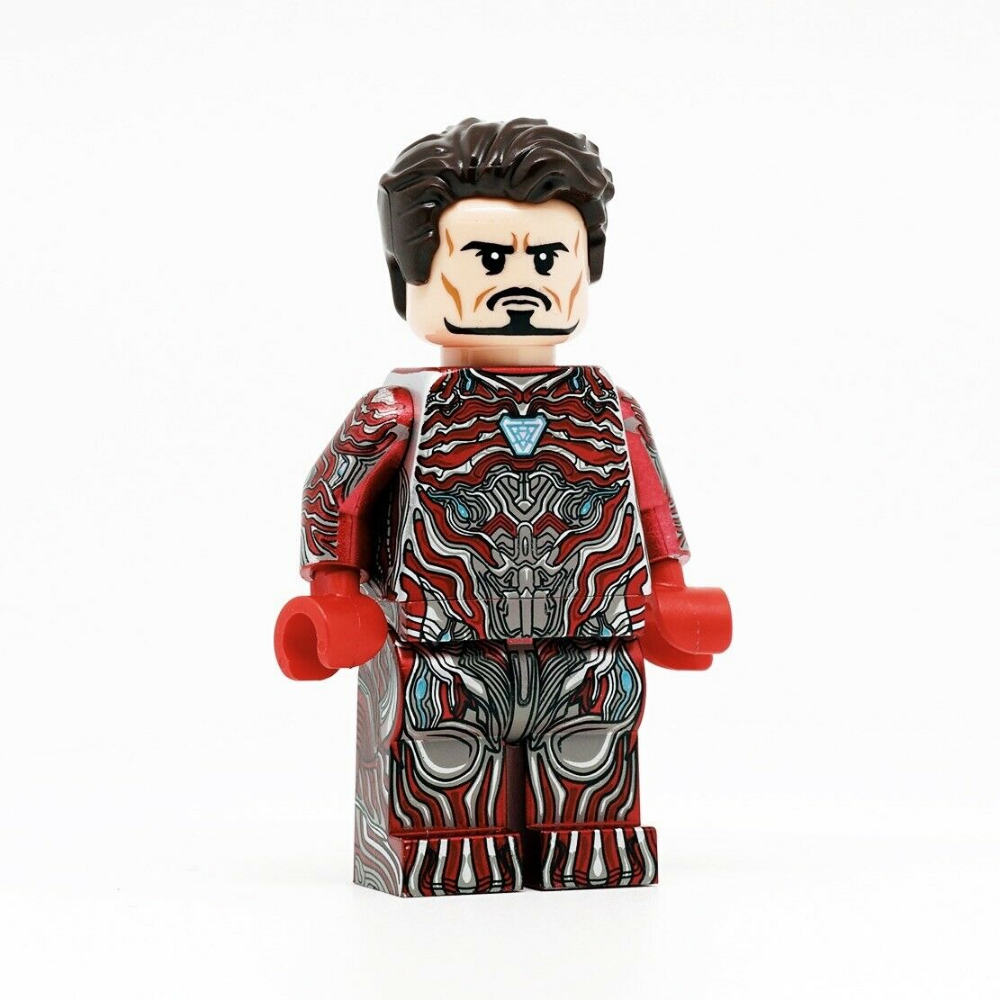 ⎡CRAZY MINIFIGS⎦ Custom Iron Man Tony Stark Red Nano Suit Lego Minifigure  | eBay