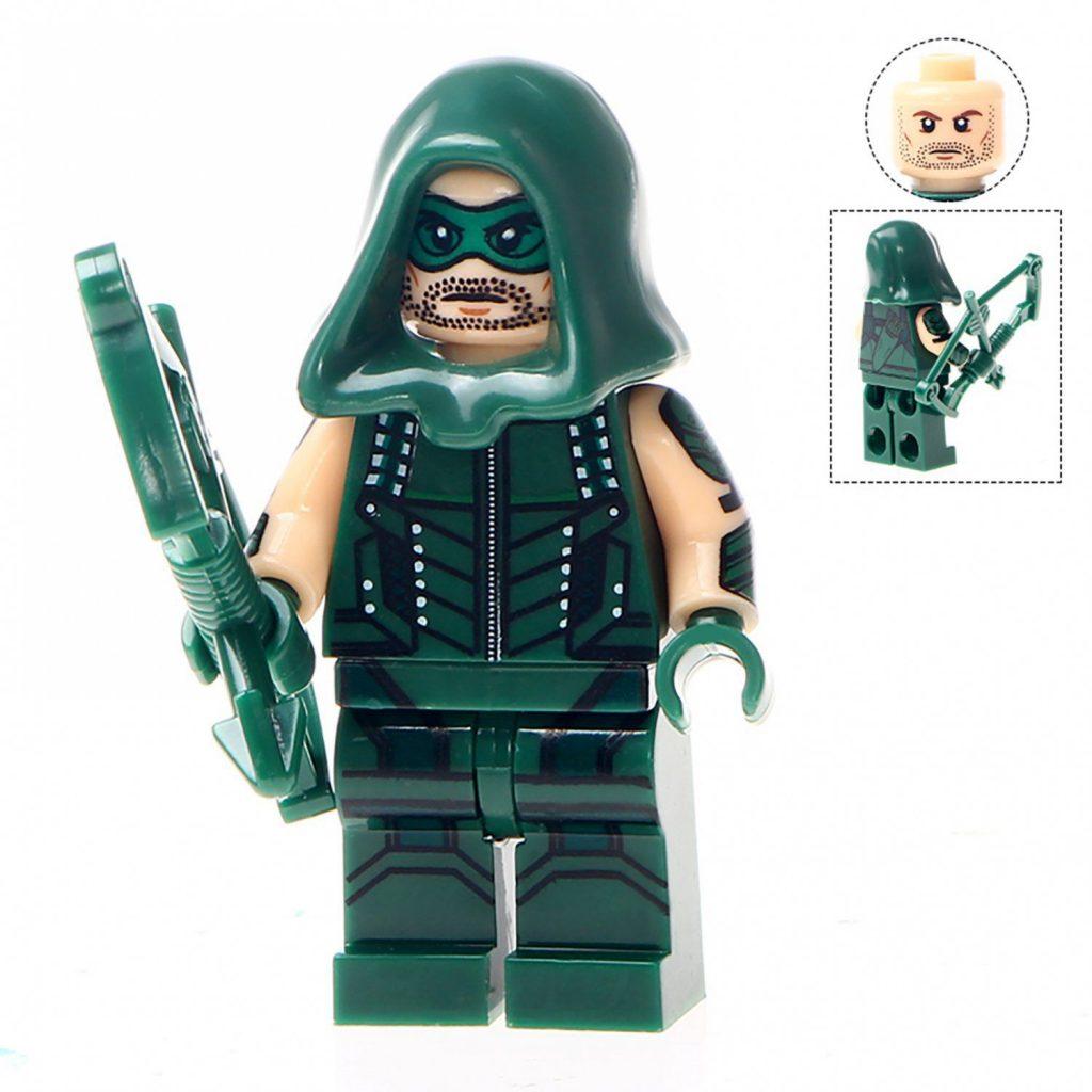 Minifigure Green Arrow DC Comics Super Heroes Compatible Lego Building Block Toys