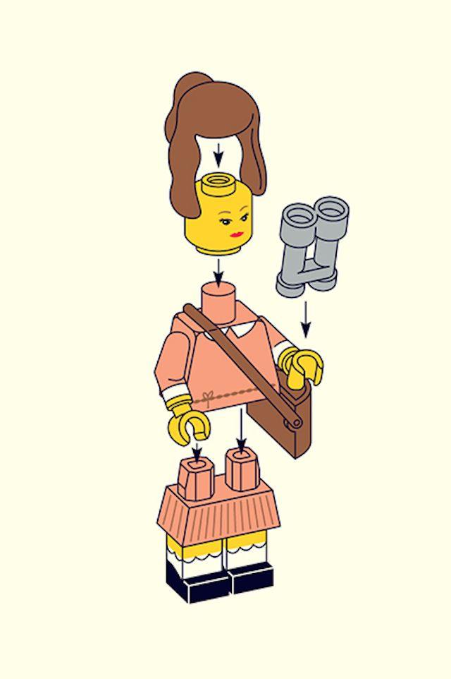 Personajes Wes Anderson en LEGO Matt Chase, ilustrador y diseñador gráfico, es…
