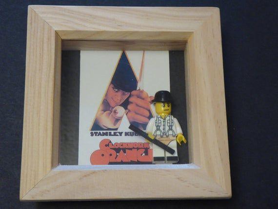 Clockwork Orange Lego Minifigure Frame