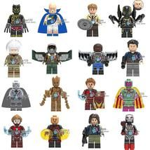 16pcs/set Marvel Super Heroes Observer Yellow Jacket Stan Lee Groot Minifigures