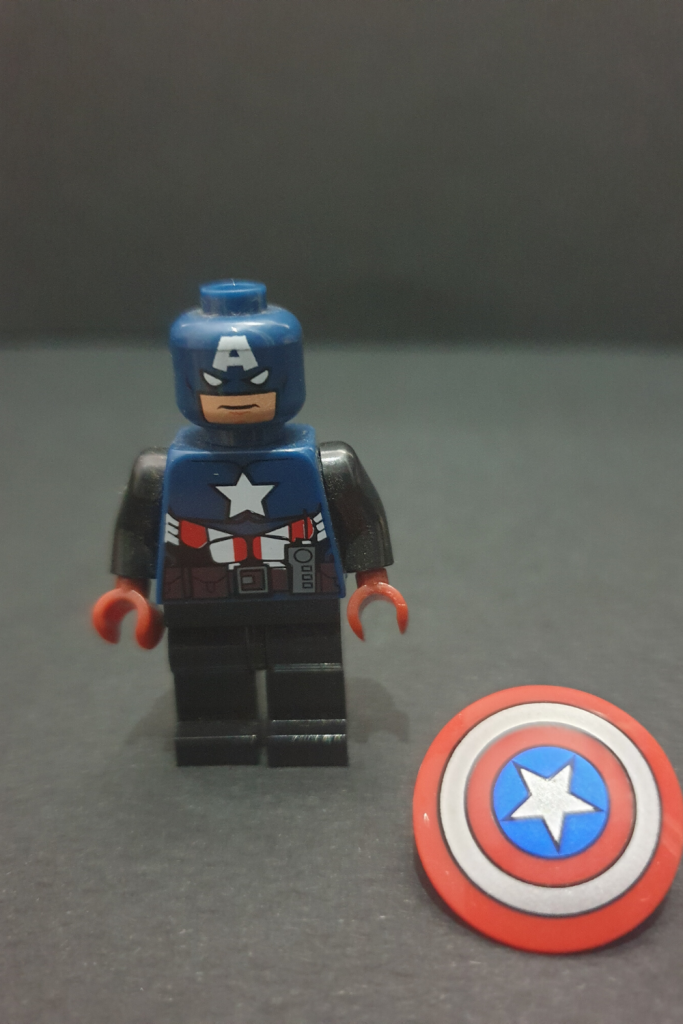 Custom Minifigure Captain America Toy Exclusive Comic