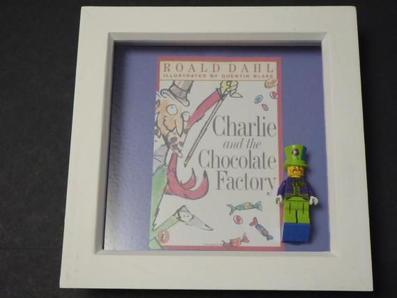 Roald Dahl – Charlie & The Chocolate Factory Lego Minifigure Frame