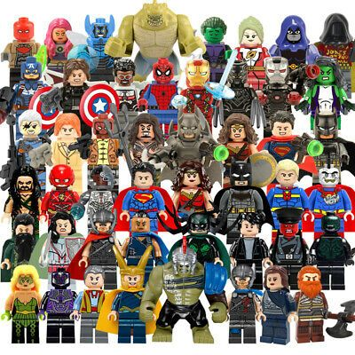 Ad – 200+ Marvel Avengers Minifigures DC lego Iron Man Hulk Super Heroes Toys Gi…
