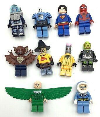 Ad – LEGO LOT OF 10 SUPER HERO MINIFIGURES MR. FREEZE SPIDERMAN SUPERMAN MAN-BAT…