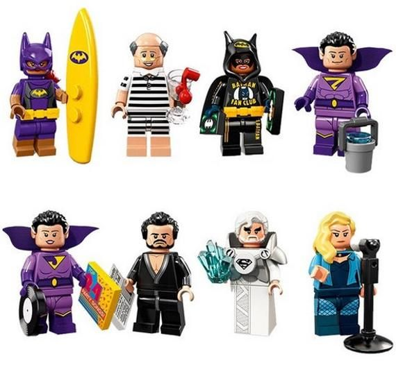 Lot of 8 Super Heroes Minifigures (Surf Batgirl, Alfred, Zan, Jayna, General Zod…