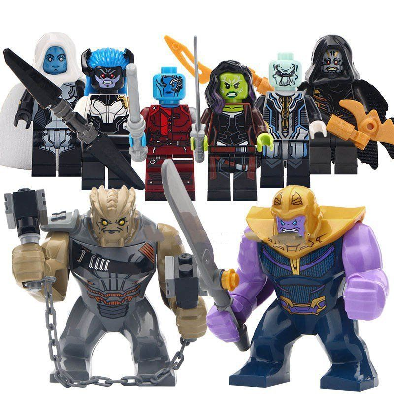 Marvel building block Toy Thanos Nebula minifigures Compatible Lego Super Heroes