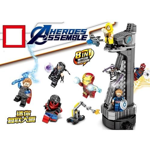 Stark Tower Marvel Avengers Building Bricks Set